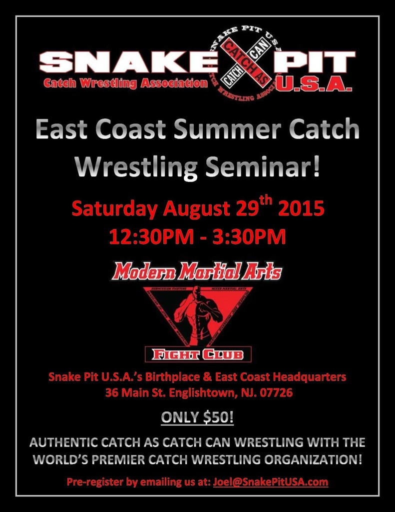 1 East Coast Summer Catch Wrestling Seminar For Photo