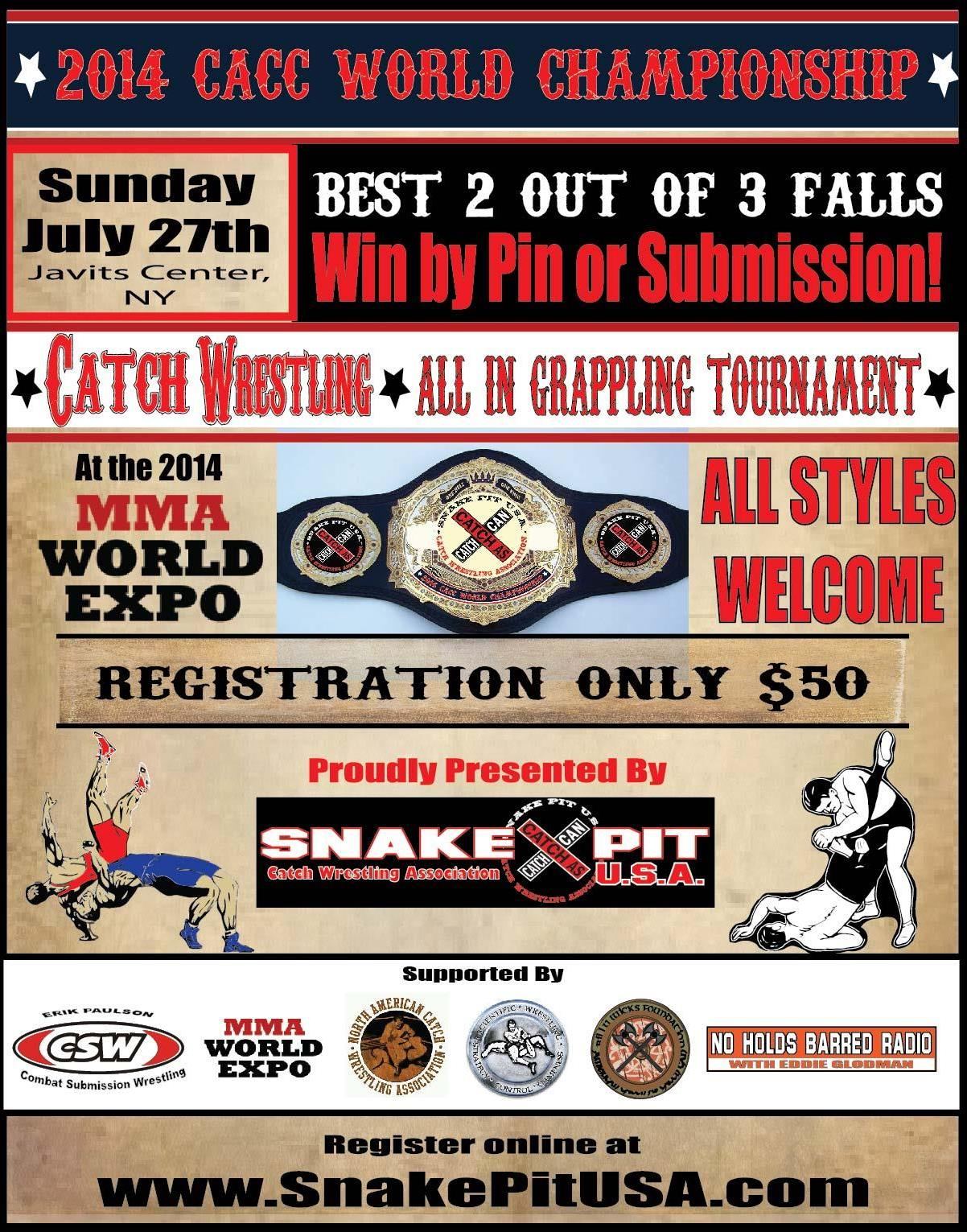 Catch Wrestling Catch as Catch Can Submission Wrestling SnakePit USA Razors Edge MMA Dan Bocelli